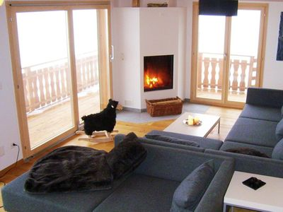 Photo for Surface area : about 148 m². Living room with settee, fireplace. 3 bedrooms with double bed