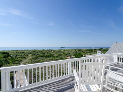Photo for Rock your cares away from your classic oceanfront cottage