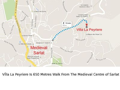650 Metres Walk to Medieval Centre of Sarlat