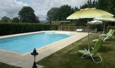 Photo for detached chalet park 1500 m2, heated pool, furnished Tourism 3 *