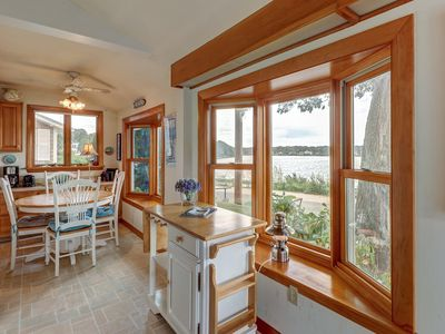 Photo for Charming lakefront home w/ awesome views - walk to the beach!