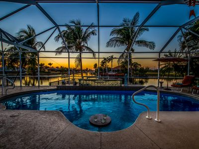 Photo for Name Describes it Perfectly, Gorgeous Views, Heated Saltwater Pool - Villa Picturesque - Cape Coral