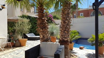 Photo for Luxury, sunny 3 Bedroom, private Pool, BBQ dining areas, WIFI, & a stunning View