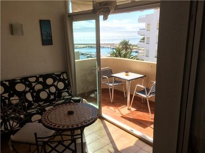 Photo for Apartment in Estepona port with lateral sea views, Seafront Estepona port near shops and restaurants