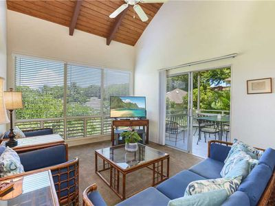 Photo for New Listing: Lush Greenery Surrounds You In Poipu Crater, Short Walk to Beach