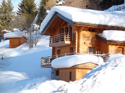 Photo for A chalet built 2 years ago with 7 rooms, outside sauna and a stunning view
