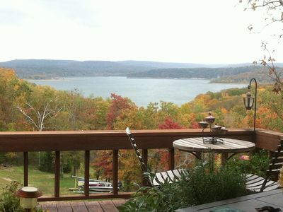 Photo for FURNISHED SHORT TERM Lakeview Chalet w/ dock BILLS PAID on Lake Tenkiller