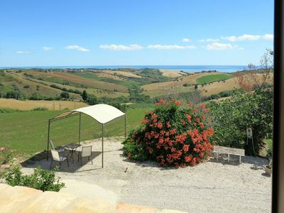 Photo for Lovely apartment in villa for 8 guests with hot tub, A/C, WIFI, pool, TV, pets allowed and parking