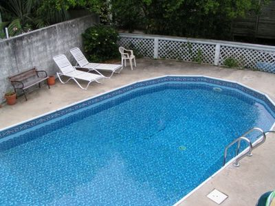 Photo for PRIVATE POOL & HOT TUB!! Just Steps to the BEACH! 1/2 Block! Cute, Comfortable Beach Home!