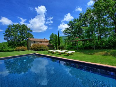 Photo for Stone-built villa with private swimming pool, 7 bedrooms and large gardens