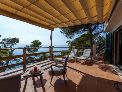 Photo for Stunning location on the cliff, directly on the sea – Villa Banyalbufar