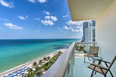 Breathe in the ocean air from the private balcony.