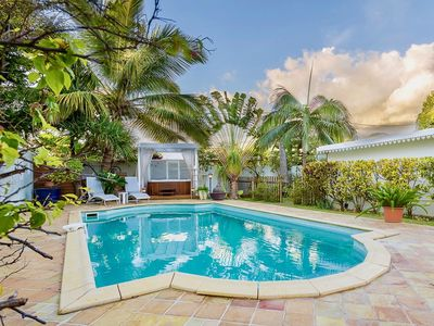 Photo for Villa standing Pool & Spa, Creole charm in village seaside Etang Sale