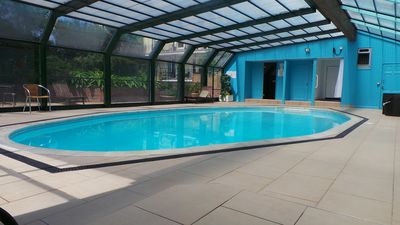 Photo for Apartment in Fowey, Cornwall with Heated Pool, Parking and Private Garden