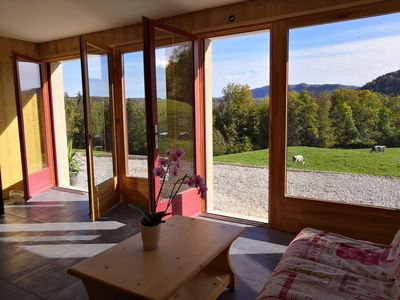 Photo for gite of Haut Jura any comfort exceptional sight with 180 ° on the Natural Park