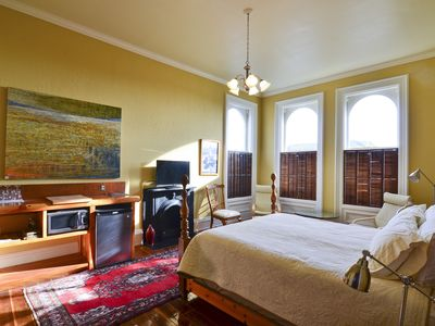 """Photo for """"Euro Flat"""" Beautifully appointed room in Historic Building(Shared Bathroom)"""