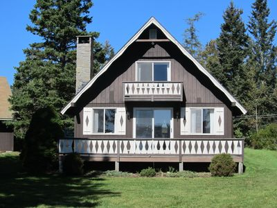 Photo for Bass Harbor Oceanfront Chalet:  Peaceful, Private, Great On-The-Ocean View