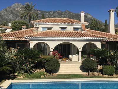 Photo for Elegant bright villa in Marbella Golden Mile with great sea and mountain views