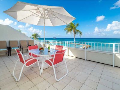 Photo for Location, location, location - 7 Mile Beach Oceanfront 3 BR Unit at Sunset Cove!