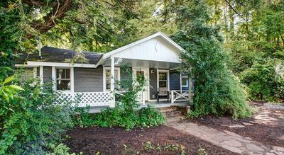 Photo for Black Mountain Cottage: eclictic & historic...hot tub, outskirts of downtown, fireplace & fire pit!