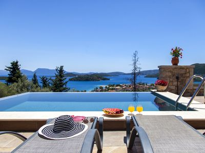 Photo for 2020Offer: Villa Ionian Pearl with Infinity Pool & Sea View in Perigiali Lefkada