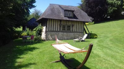 Photo for Lovely house with pool in the heart of the Pays d'Auge for a stay with two