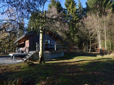 Photo for Rustic Chalet, ultimate relaxation in the forest