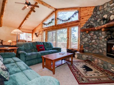 Photo for Away From It All: Hot Tub! Shuffleboard! Forest! Spacious Kitchen! Laundry! Cable TV!