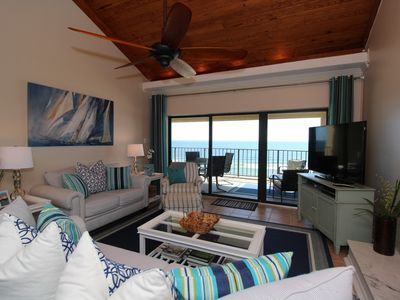 Photo for Shipwatch A804 Penthouse -Beach Front Views from Terrace w/ Coastal Interior!