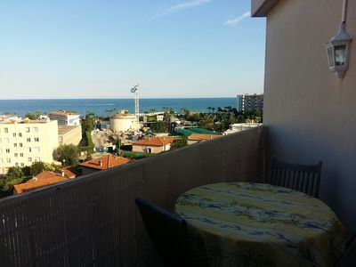 Photo for 2 rooms sea view 2 minutes from the beach