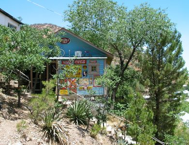 The Sleepy Dog is perched on the side of one of Bisbee's famous hillsides.