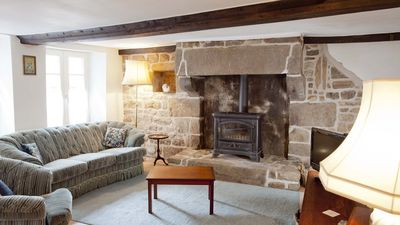 Sitting Room with old Norman fireplace