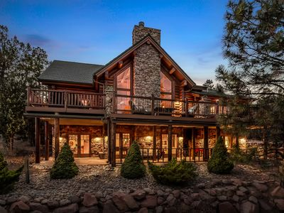 Photo for $$1.2M UNIQUE, GORGEOUS, SPACIOUS LOG HOME @ TORREON, 5 STAR RATING since 2012