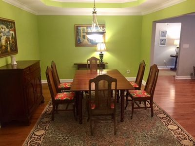 Open dining room and family room