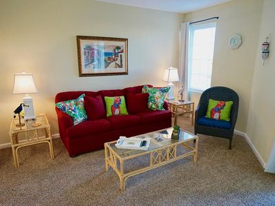 Photo for COZY, BEACH VIEW CONDO UNIT, BUNKS FOR THE KIDS, TONS OF AMENITIES, SPRING BREAK DEALS!
