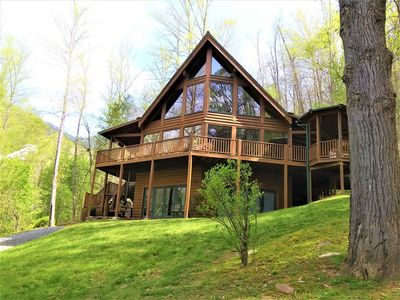 Photo for Luxurious Mountain Cabin with Premium Amenities, and Views of the Smoky Mountains