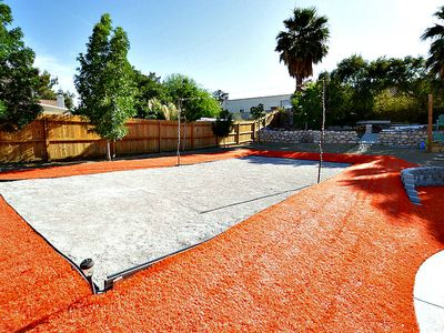 Photo for Sand Volleyball And Orange Turf...This Is Vegas!