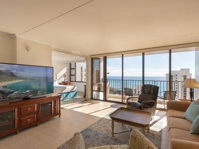 Photo for Newly Remodeled, 37th Floor, 1 Bed 1 Bath Deluxe Ocean View, Free Parking & Wifi