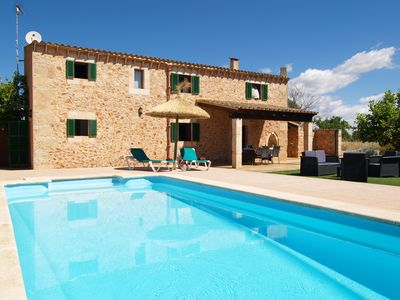 Photo for Holiday stone Villa Can Formatge close Es Trenc beach, Campos.