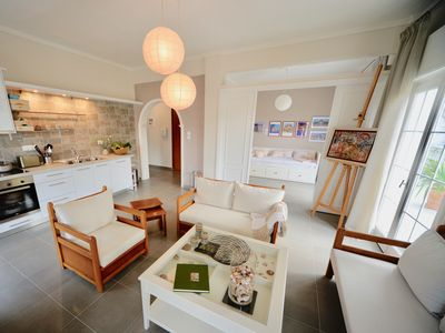 Photo for Sunlit, newly renovated apartment with 20sqm balcony and sea view