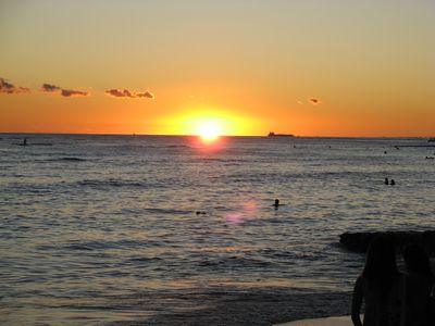 waikiki beach sunset !!! just 2 minutes from your door