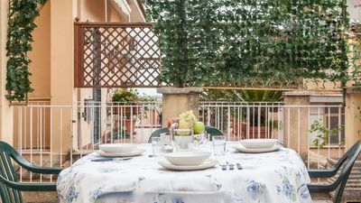 Photo for Bright apartment with a large terrace near the famous Trastevere district.