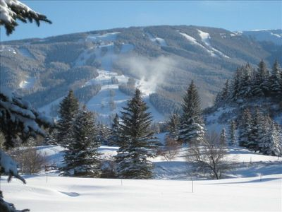 View of Beaver Creek Ski Slopes