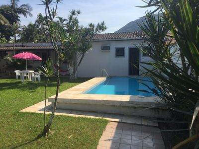 Photo for House with pool on Tombo beach - Guarujá - 2 suites
