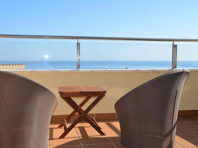 Photo for Casa in Roses on the seafront overlooking two capes and mountain - pool