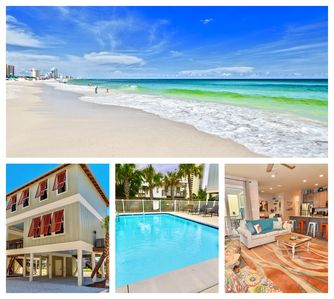 Photo for NEW LUXE Beach House -Pool -Steps to Sand -Pets OK-Gulf View-High end luxury!