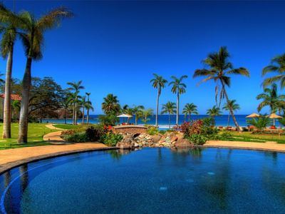 Photo for Luxury 2 bedroom Beach Front Villa at The Palms Resort in Costa Rica
