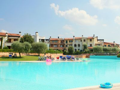 Photo for Apartment in residence 400m from Lake Garda