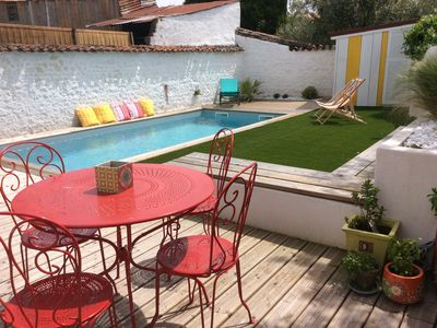 Photo for The 4 * colored house with pool and garden