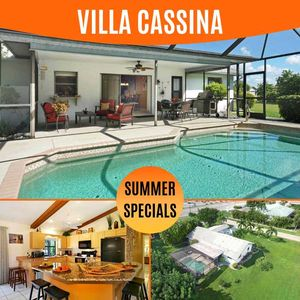Photo for 16% OFF! SWFL Rentals - Villa Cassina - Large Heated Salt Water-Pool Home Prime Location Sleeps 6